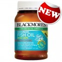 Blackmores Odourless Fish Oil 1000mg 400 Kapsul Mini (Baru)